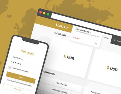 Universe bank's adaptive website