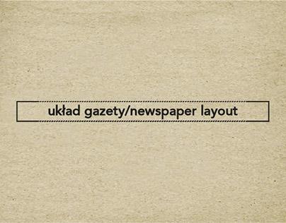 Układ gazety/newspaper layout