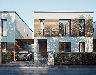 New townhouses in suburb of Vienna