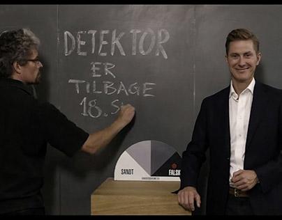Blackboard film. Trailer for Detektor tv show (DR).