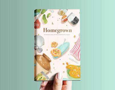 Homegrown- Recipe book design