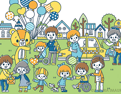 Welfare poster illustration