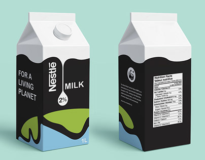 Milk packaging for the WWF