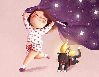 Dreaming (moon cat)