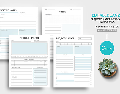 Editable Canva Project Planner Template