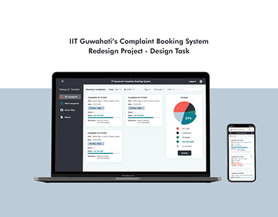 IITG Complaint Booking System - UI / UX