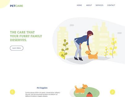 Web Design - Pet Care