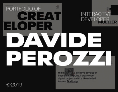 Portfolio of Creative Developer Davide Perozzi