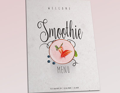 Smoothie Menu