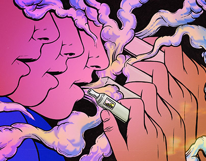 VICE editorial illustration on DMT vapes