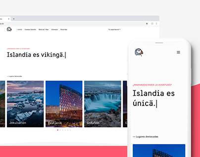 Viaje por Islandia - UI / UX Design / Website
