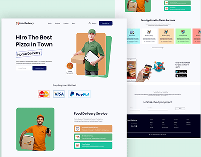 Food Delivery Landing page #28