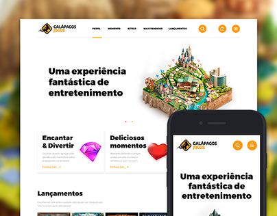 Galápagos Jogos – Redesign