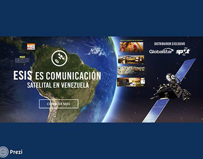 Diseño de Prezi Empresa de comunicación satelital