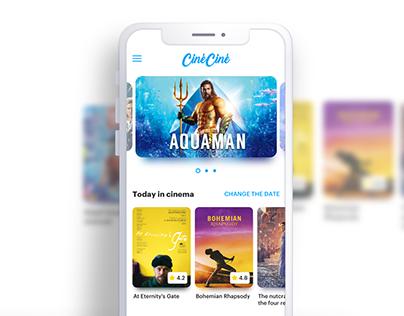 Cinema Tickets App - UX/UI Concept