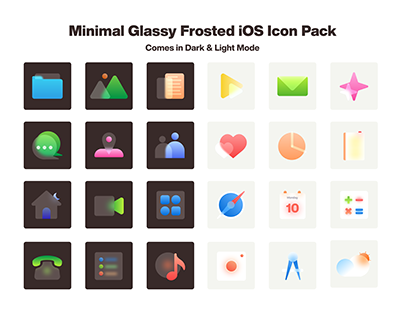 Minimal Glassy Frosted iOS Icon Pack