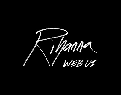 Rihanna : Web UI concept