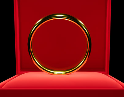 3D Modeling Redering Ring Jewelry