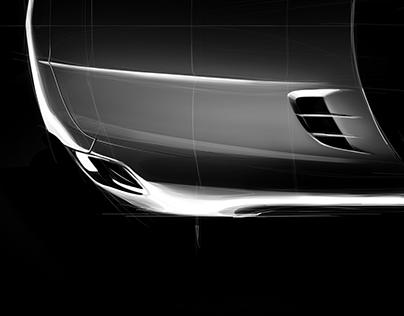 Mercedes-Benz SLS Sketch