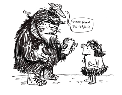 Train Doodles: 'Prehistoricop'