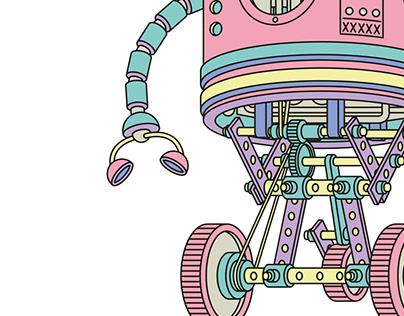 toy robot - illustration