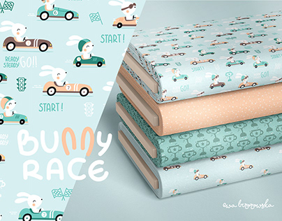 Bunny Race - pattern and prints