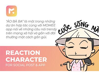 ÁO BÀ BA - Reaction character
