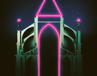 Neon Gothic - Imaginary Landscape Series-
