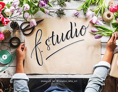 Hanwritten logo for Florist studio