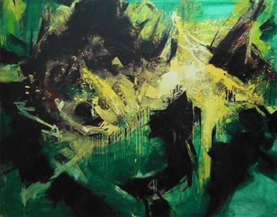 Dance, 190 cm x 150 cm, oil on canvas, 2016.
