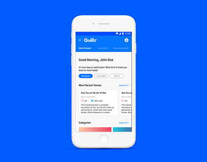 Quillr - Mobile app for the readers