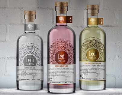 Led Craft Gin / Branding & Packaging Design