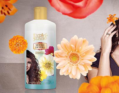Art simulation to ad for shampoo
