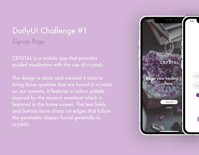 CRYSTAL - UI Design