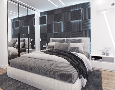 Black &White Bedroom