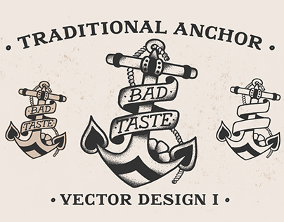 Traditional Anchor I - Vector Design