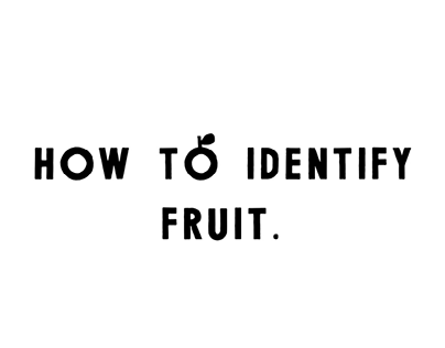 Fruit identification