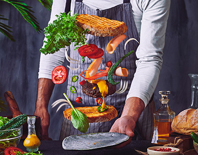 Burger project - Food photography