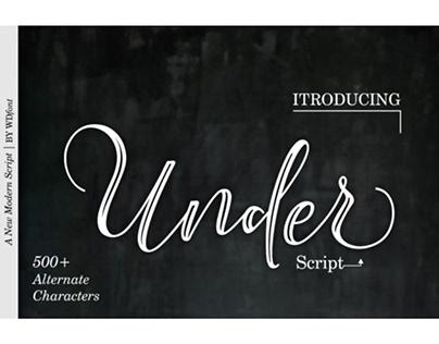 Under Script Font