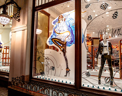 Fashion illustrations for Christmas Windows