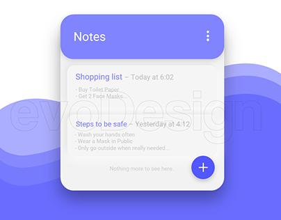 Notes, Reimagined (Material UI)