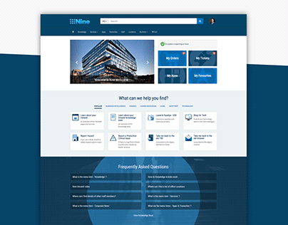 Channel Nine Service Portal Design