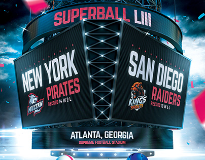 American Football Superball Flyer College Match