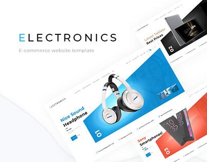 E-commerce theme. Electronics store.
