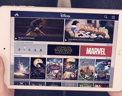 Disney Streaming Service App Visual UI Concept