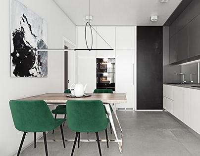 Interior design project of apartment in Kyiv #SG71