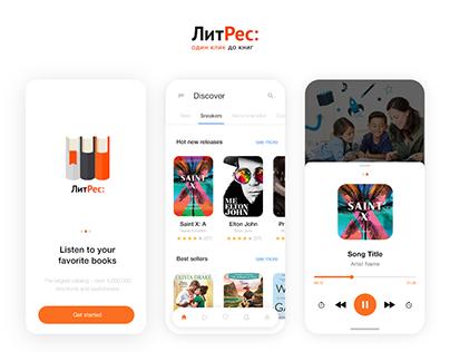 LitRes: Books store app UI