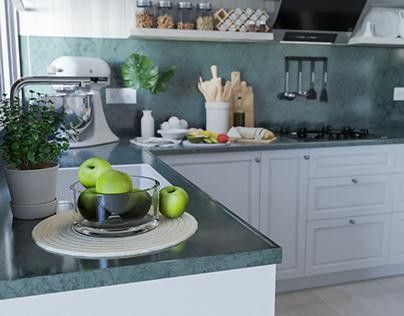 Kitchen_Archviz_Blender 2