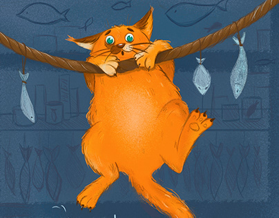 Кот на рыбалке!