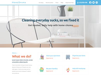 Cleaning Service Home page Design